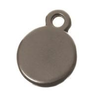 Metallanhänger Kreis, 11 x 8 mm, versilbert