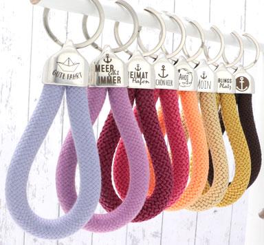 Gravierte Endkappen für Schlüsselanhänger