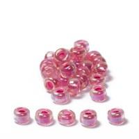 Miyuki Rocailles rund 8/0 (ca. 3 mm), Hot Pink-Lined Crystal AB, ca. 22 gr