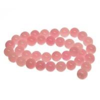Edelsteinstrang, Mashan Jade, Kugel, 8 mm, gefärbt pink