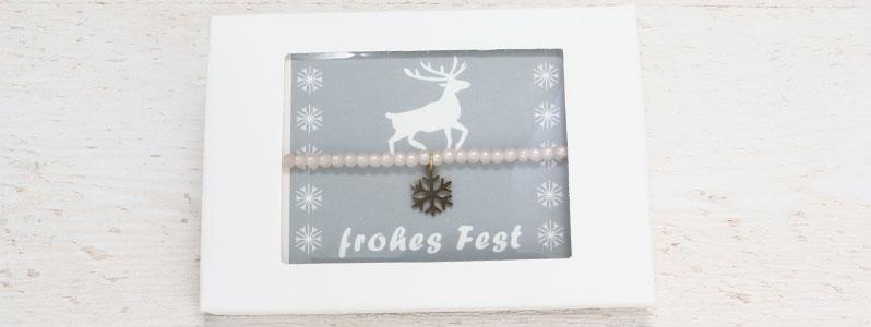 Weihnachtarmband Schneeflocke mit Geschenkverpackung