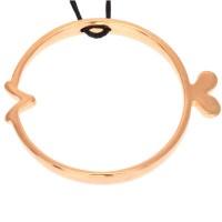 Metallanhänger Fisch, 43 x 36 mm, vergoldet
