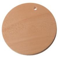 Holzanhänger Scheibe, 35 x 5 mm, naturfarben
