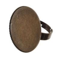 Ring für runde Cabochons 25 mm zum Einkleben, bronzefarben