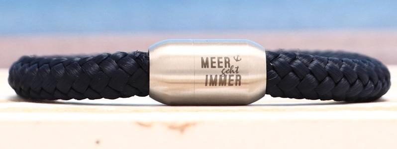 Segeltauarmband mit 8 mm Segeltau Meer geht Immer