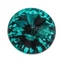 Swarovski Rivoli (1122), 12 mm, emerald
