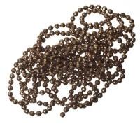 Kugelkette, diamantiert, Durchmesser 1,5 mm, Länge 1 m, kupfer