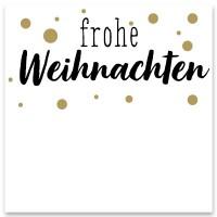 """Schmuckkarte """"Frohe Weihnachten"""", weiß, quadratisch, Größe 8,5 x 8,5 cm"""