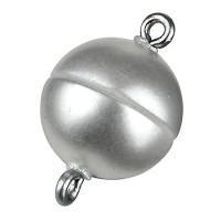Magic-Power-Magnetverschluss Kugel 12 mm, mit Ösen, perlmutt