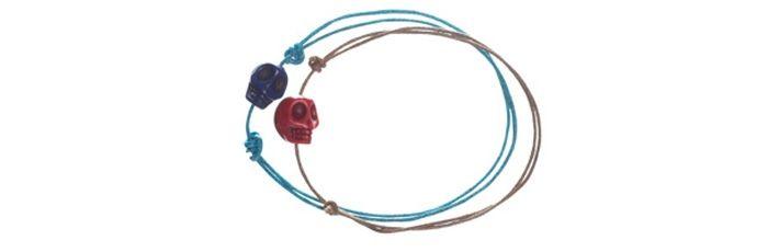 Armbänder Blau & Rot