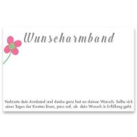 """Schmuckkarte """"Wunscharmband"""", quer, weiß, Größe 8,5 x 5,5 cm"""