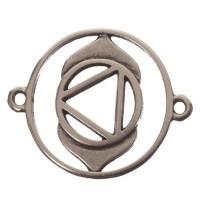 Armbandverbinder Drittes Auge-/Stirnchakra, 24 x 20 mm, versilbert