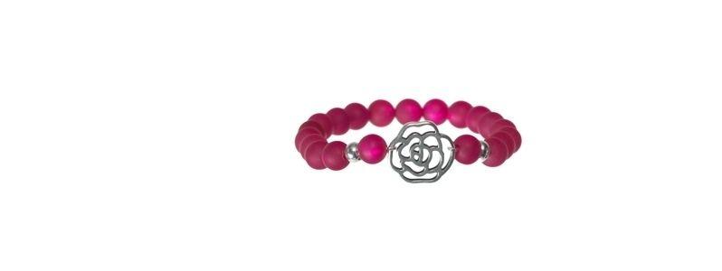 Armband mit Metallanhänger Rose