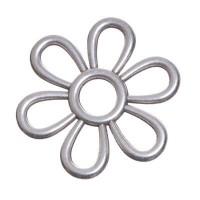 Metallanhänger, Blume, 41 x 41 mm, versilbert