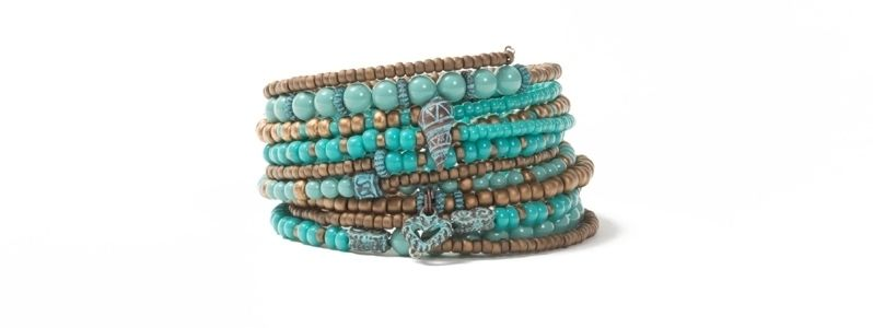 Memory Wire Armband Türkisgrün