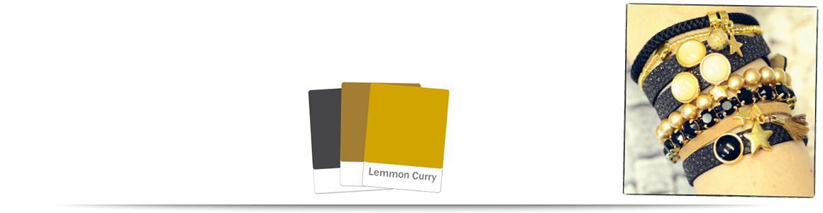 Armbänder zum Farbtrend  Lemon Curry