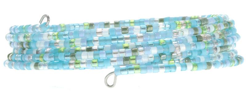 Armband mit Memory Wire und Miyuki Perlen