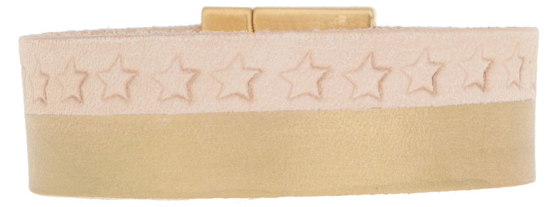 Leder-DIY Armband Sterne