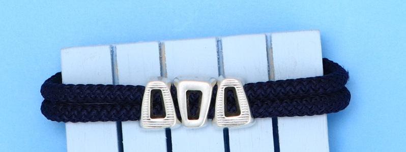 Maritimes Armband mit Tau und Magnetverschluss versilbert