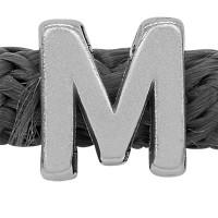 Grip-It Slider Buchstabe M, für Bänder bis 5mm Durchmesser, versilbert