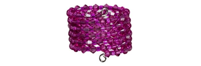 Memory Wire Ring Fuchsia
