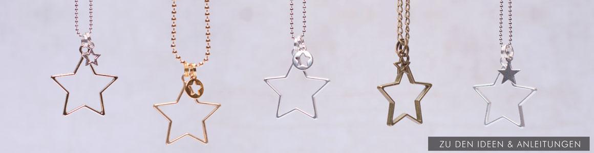 Metallperlen & Metallanhänger Sterne