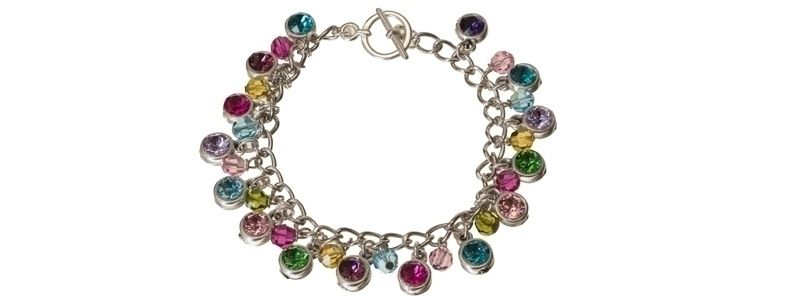 Bettelarmband mit Swarovksi Elements Chatons