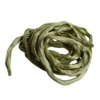 Habotai-Seidenband, Durchmesser 3 mm, Länge 110 cm, jadegrün