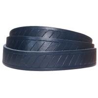 Lederband mit Motiv Classic, 15 x 2 mm, Länge 1 m, dunkelblau