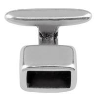 Hakenverschluss für Bänder mit 5 mm Durchmesser, versilbert