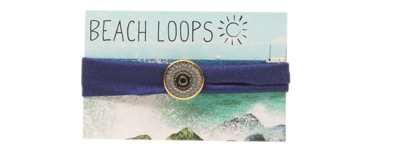 Beach Loop Ethno Navy