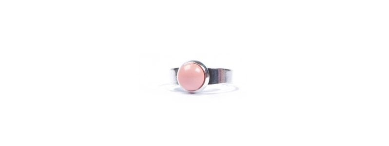 Ring kleine Glascbochons Crystal Pearls