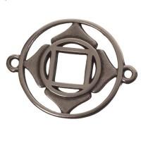 Armbandverbinder Wurzel-/Basischakra, 24 x 20 mm, versilbert