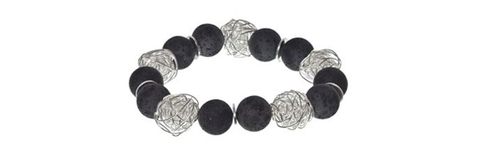 Wickelkugelarmband Schwarz