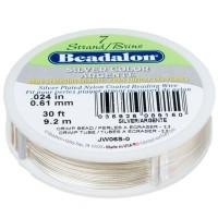 Beadalon 7 Strand, 0,61 mm, 9,2 m, Farbe: Metallic Silber, Schmuckdraht