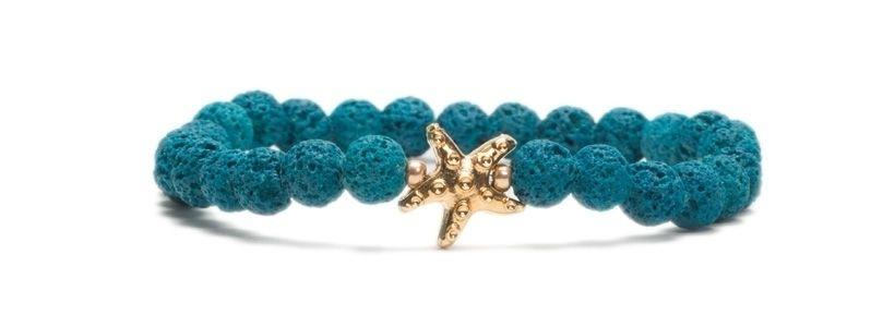 Armband bunte Lava Hellblau