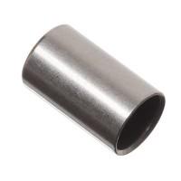 Endkappe mit Fädelloch für Bänder bis 5 mm Durchmesser, 10 x 6 mm, versilbert