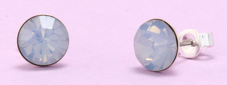 Ohrstecker mit Preciosa Chatons Light Sapphire Opal
