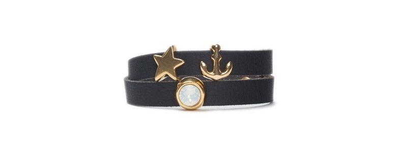 Armband mit Schiebeperlen Anker & Stern
