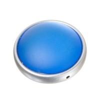 Luna-Perle, rund 28 mm, blau