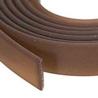 Flaches PVC-Band, 6 x 2 mm, braun, Länge 1 m