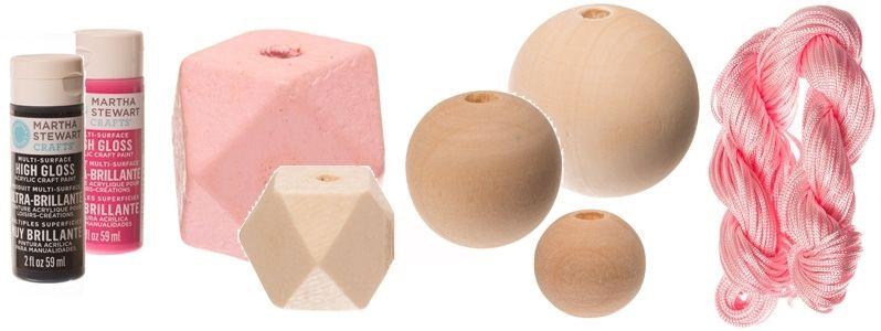 Geometrisches Holzperlen