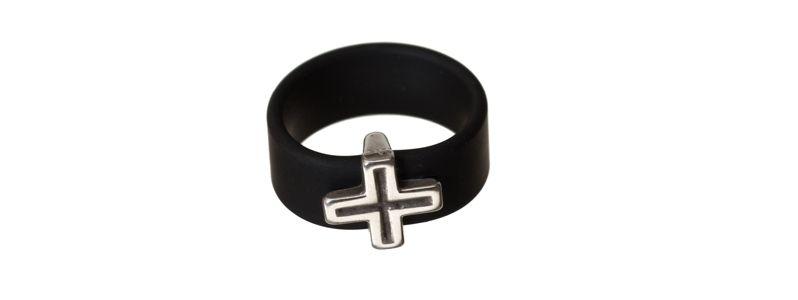 Ring Kreuz Schwarz