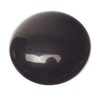 Polaris Opak Cabochon, rund, 12 mm, schwarz