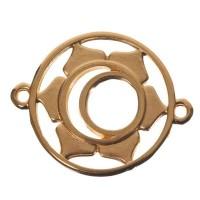 Armbandverbinder Sakralchakra, 24,5 x 20 mm, vergoldet