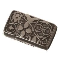 Magnetverschluss, viereckig, für breite Bänder (10 x 2 mm), versilbert