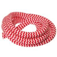 Segelseil / Kordel, Durchm. 10 mm, Länge 1 m, rot-weiß gestreift