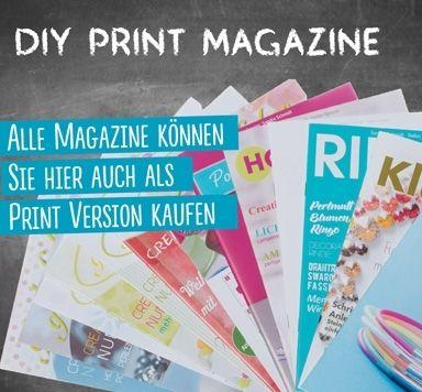 DIY Print Magazine zum Schmuck selber machen
