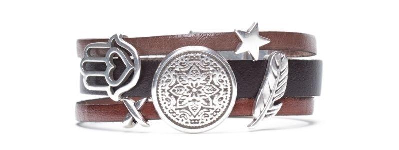 Armband  mit Sliderperlen Mix