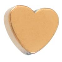 Hämatitperle, Herz, 6 x 6 mm, vergoldet galvanisiert